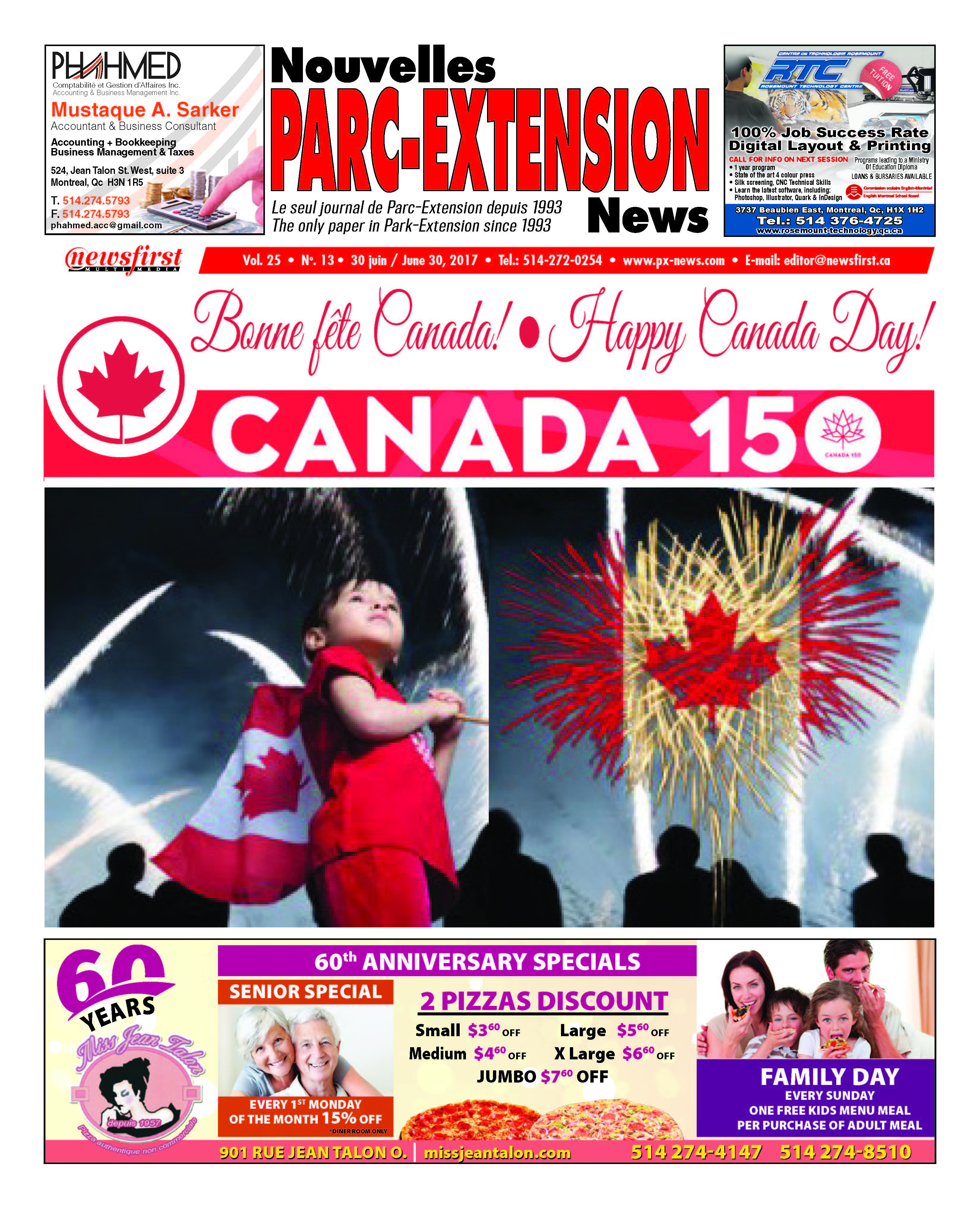 Front page image of the Parc-Extension News Volume 25-13