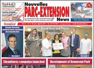 Front Page Image of the Parc Extension News 26-08