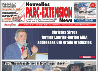 Front Page Image of the Parc Extension News 26-09