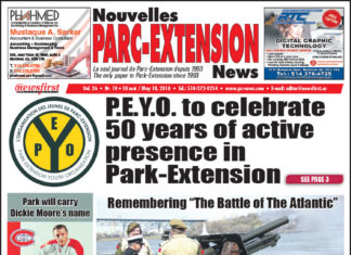 Front Page Image of the Parc Extension News 26-10