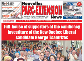 Front Page Image of the Parc Extension News 26-13