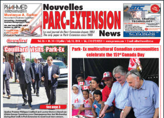 Front Page Image of the Parc Extension News 26-14
