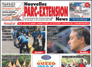 Front Page Image of the Parc Extension News 26-17.