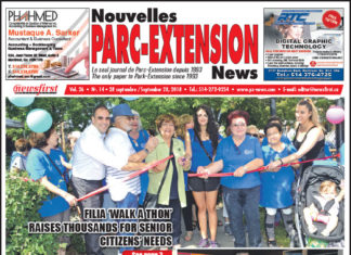 Front Page Image of the Parc Extension News 26-18.