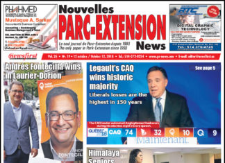 Front Page Image of the Parc Extension News 26-19.