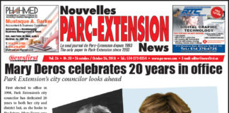 Front Page Image of the Parc Extension News 26-20.