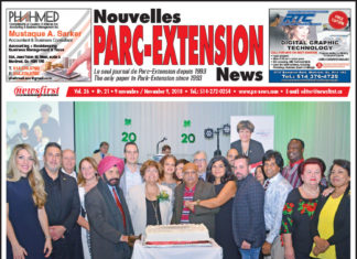 Front Page Image of the Parc Extension News 26-21.