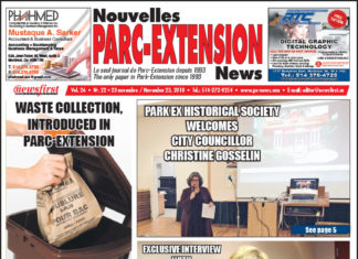 Front Page Image of the Parc Extension News 26-22.
