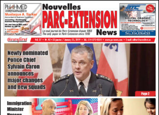 Front Page Image of the Parc Extension News 27-02.