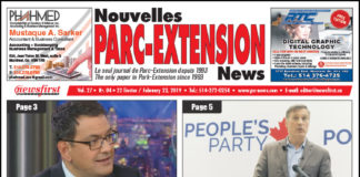 Front Page Image of the Parc Extension News 27-04.