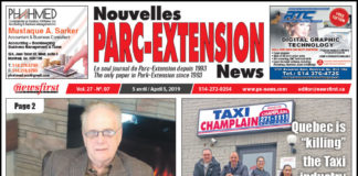 Front Page Image of the Parc Extension News 27-07.