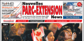 Front Page Image of the Parc Extension News 27-08.