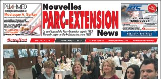 Front Page Image of the Parc Extension News 27-10.