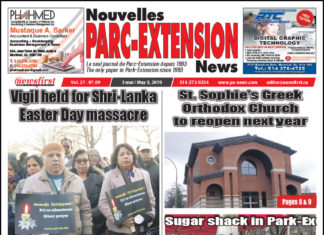 Front Page Image of the Parc Extension News 27-09.