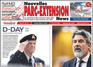 Front Page Image of the Parc Extension News 27-11.