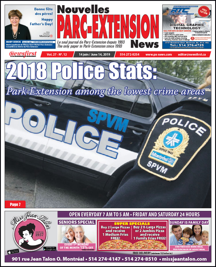 Front Page Image of the Parc Extension News 27-12.