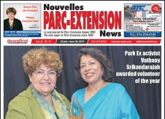 Front Page Image of the Parc Extension News 27-13.