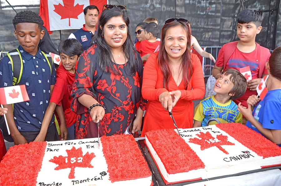 Park Exers treated to a BIG Canada Day celebration