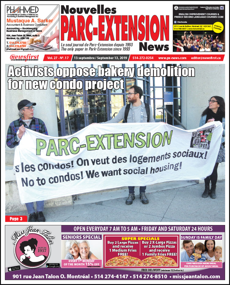 Front Page Image of the Parc Extension News 27-17