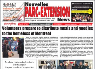 Front Page of the Parc Extension News 27-24