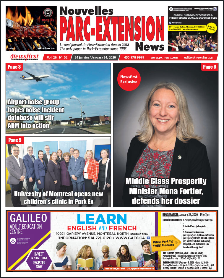 Front Page of the Parc Extension News 28-02