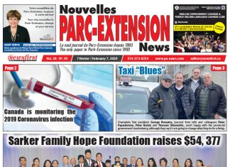 Front Page of the Parc Extension News 28-03