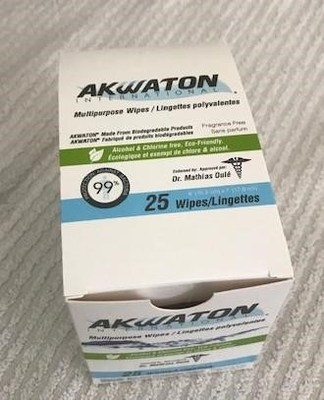 Akwaton International Multipurpose Wipes image of health product unapproved by health Canada