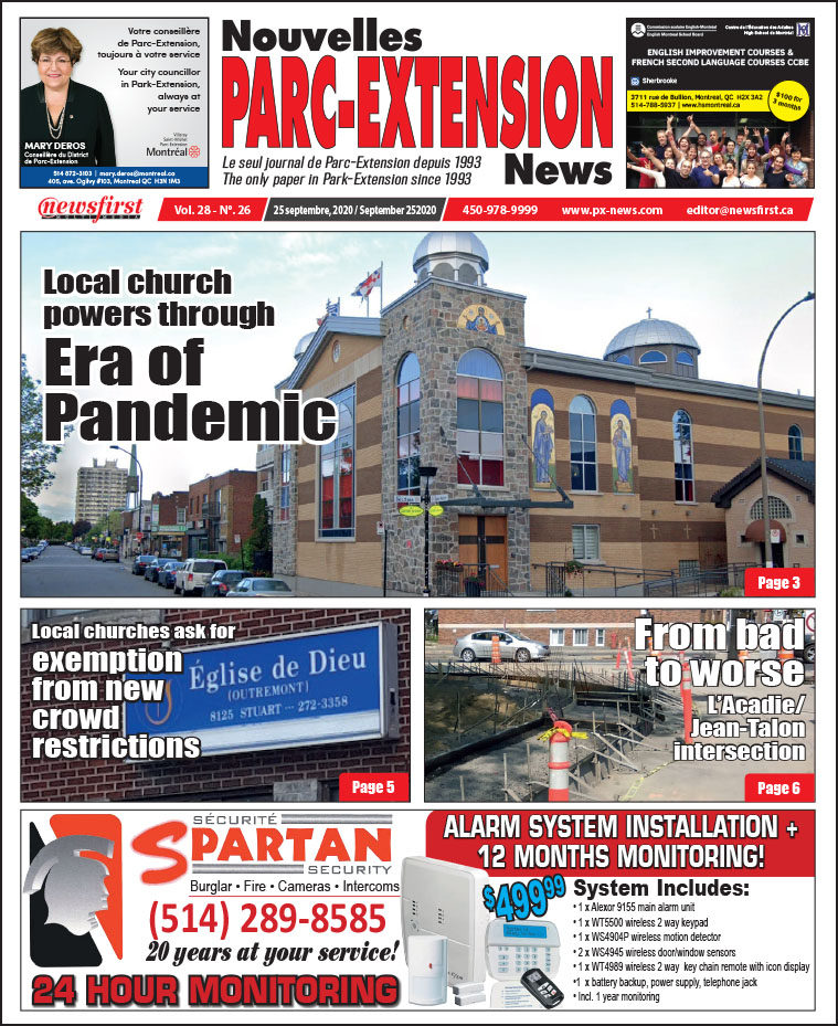 Parc-Extension News. front page image.